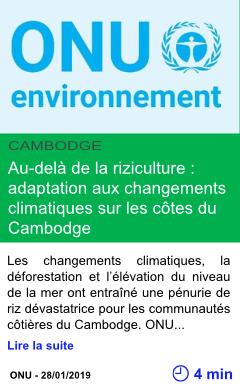 Science au dela de la riziculture adaptation aux changements climatiques sur les cotes du cambodge page001