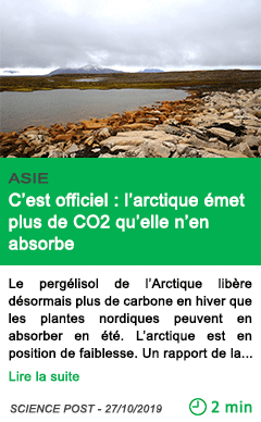Science c est officiel l arctique emet plus de co2 qu elle n en absorbe
