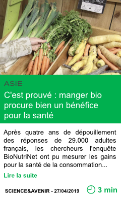 Science c est prouve manger bio procure bien un benefice pour la sante page001