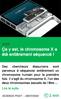 Science ca y est le chromosome x a ete entierement sequence