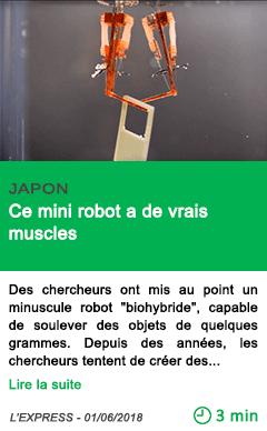 Science ce mini robot a de vrais muscles
