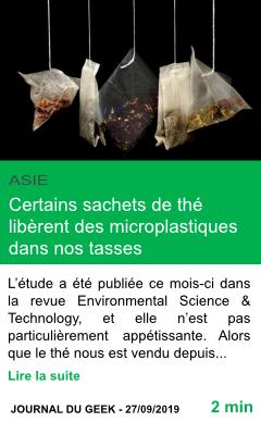 Science certains sachets de the liberent des microplastiques dans nos tasses page001