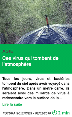 Science ces virus qui tombent de l atmosphere