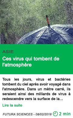 Science ces virus qui tombent de l atmosphere