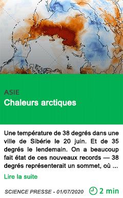 Science chaleurs arctiques