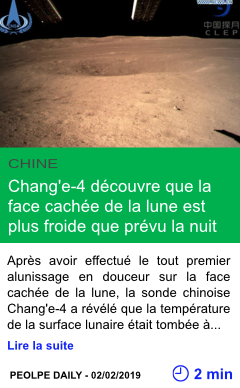 Science chang e 4 decouvre que la face cachee de la lune est plus froide que prevu la nuit page001