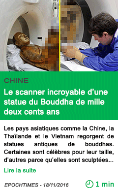 Science chine le scanner incroyable d une statue du bouddha de mille deux cents ans