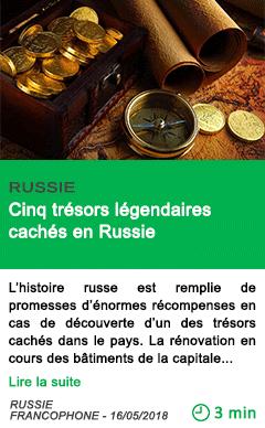 Science cinq tresors legendaires caches en russie