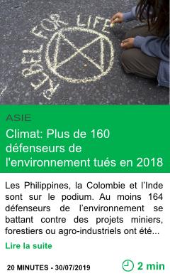 Science climat plus de 160 defenseurs de l environnement tues en 2018 page001