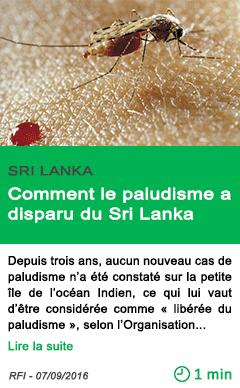Science comment le paludisme a disparu du sri lanka