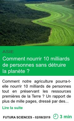 Science comment nourrir 10 milliards de personnes sans detruire la planete page001