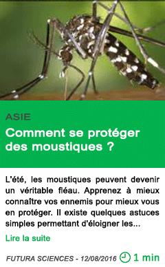 Science comment se proteger des moustiques