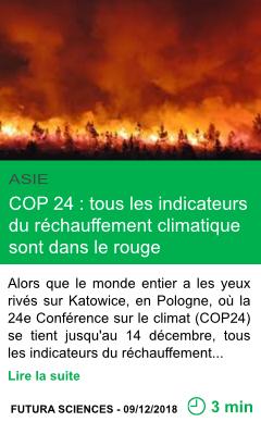 Science cop 24 tous les indicateurs du rechauffement climatique sont dans le rouge page001
