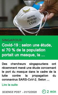 Science covid 19 selon une e tude si 70 de la population portait un masque la pande mie serait stoppe e