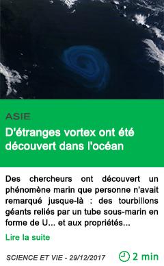 Science d etranges vortex ont ete decouvert dans l ocean