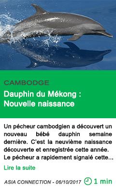 Science dauphin du mekong nouvelle naissance