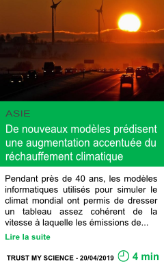 Science de nouveaux modeles predisent une augmentation accentuee du rechauffement climatique page001