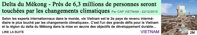 Science delta du mekong pres de 6 3 millions de personnes seront touchees par les changements climatiques
