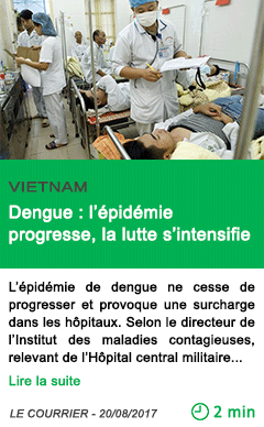 Science dengue l epidemie progresse la lutte s intensifie