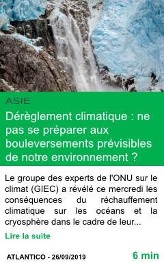 Science dereglement climatique bouleversements previsibles de notre environnement page001