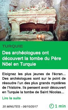 Science des archeologues ont decouvert la tombe du pere noel en turquie