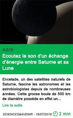 Science ecoutez le son d un echange d energie entre saturne et sa lune