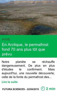 Science en arctique le permafrost fond 70 ans plus tot que prevu page001