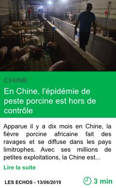 Science en chine l epidemie de peste porcine est hors de controle page001