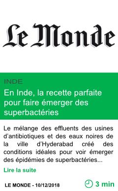 Science en inde la recette parfaite pour faire emerger des superbacteries page001
