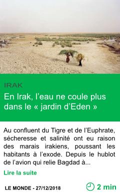Science en irak l eau ne coule plus dans le jardin d eden page001