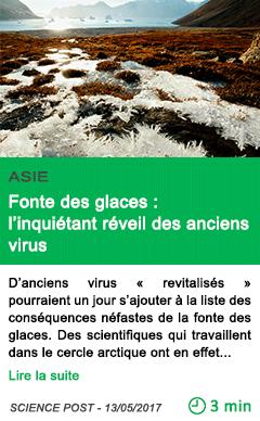 Science fonte des glaces l inquietant reveil des anciens virus