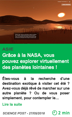 Science grace a la nasa vous pouvez explorer virtuellement des planetes lointaines