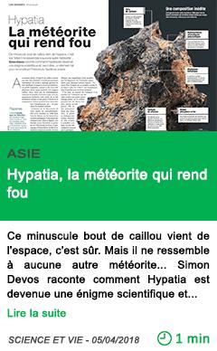 Science hypatia la meteorite qui rend fou