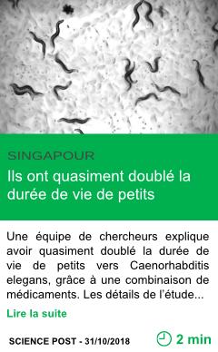 Science ils ont quasiment double la duree de vie de petits animaux page001