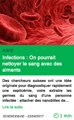 Science infections on pourrait nettoyer le sang avec des aimants