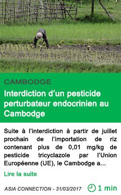 Science interdiction d un pesticide perturbateur endocrinien au cambodge