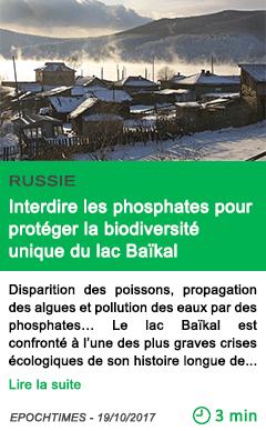Science interdire les phosphates pour proteger la biodiversite unique du lac baikal