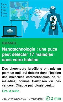 Science israel nanotechnologie une puce peut detecter 17 maladies dans votre haleine