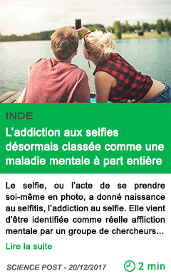 Science l addiction aux selfies desormais classee comme une maladie mentale a part entiere