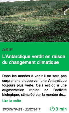 Science l antarctique verdit en raison du changement climatique