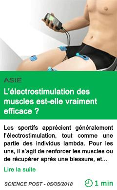 Science l electrostimulation des muscles est elle vraiment efficace
