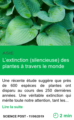 Science l extinction silencieuse des plantes a travers le monde page001