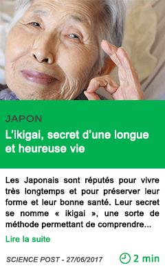 Science l ikigai secret d une longue et heureuse vie