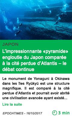 Science l impressionnante pyramide engloutie du japon comparee a la cite perdue d atlantis le debat continue