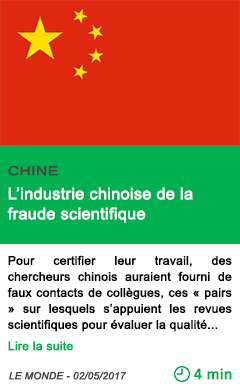 Science l industrie chinoise de la fraude scientifique