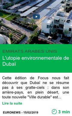 Science l utopie environnementale de dubai page001