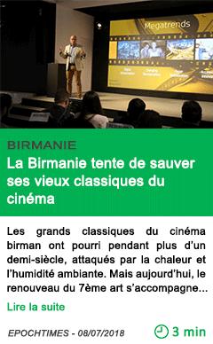 Science la birmanie tente de sauver ses vieux classiques du cinema
