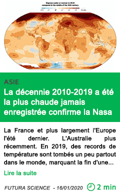 Science la decennie 2010 2019 a ete la plus chaude jamais enregistree confirme la nasa 1