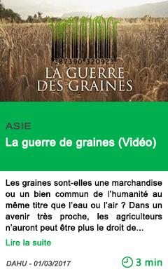 Science la guerre de graines