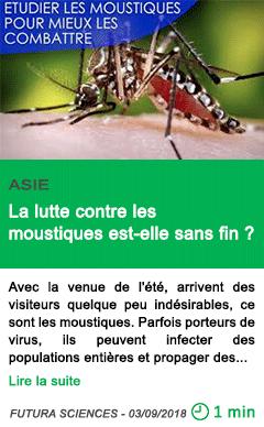Science la lutte contre les moustiques est elle sans fin